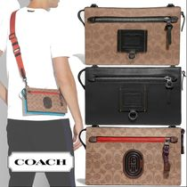 Coach SIGNATURE Unisex Canvas Bag in Bag 3WAY Leather Belt Bags