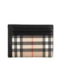 Burberry Other Plaid Patterns Unisex Leather Logo Card Holders