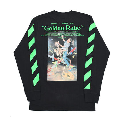 Crew Neck Pullovers Street Style Long Sleeves Cotton