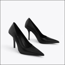 Uterque Casual Style Plain Leather Pin Heels Party Style