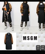 MSGM Casual Style Bi-color Plain Medium Peacoats