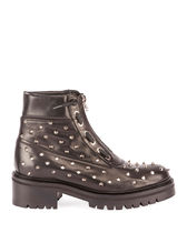 BALMAIN Round Toe Rubber Sole Casual Style Studded Street Style