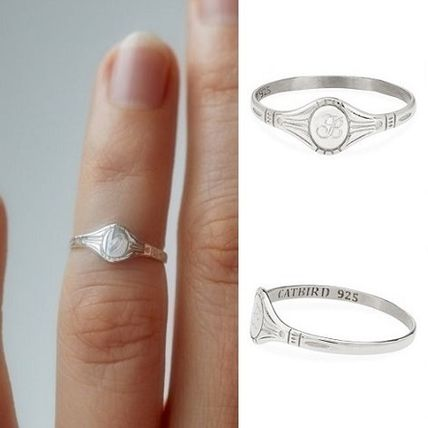 Initial Silver Pinkie Ring Fine