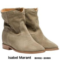 Isabel Marant Suede Plain Leather Ankle & Booties Boots