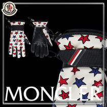 MONCLER Star Nylon Blended Fabrics Leather Logo