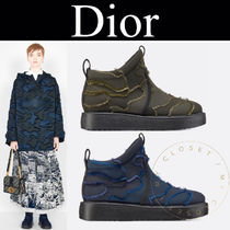 Christian Dior Camouflage Rubber Sole Casual Style Street Style Handmade