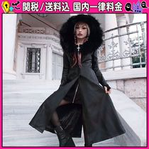 DOLLS KILL Casual Style Faux Fur Plain Long Trench Coats