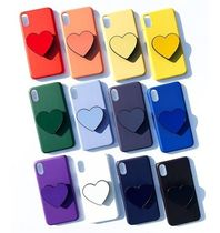 Heart Unisex Plain Silicon Handmade Smart Phone Cases