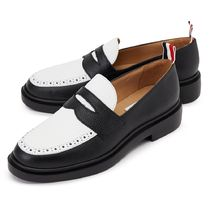 THOM BROWNE Casual Style Suede Leather Party Style Office Style