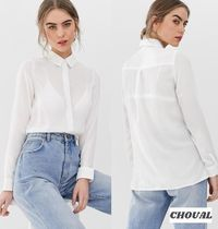 New Look Casual Style Long Sleeves Plain Medium Office Style