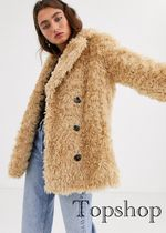 TOPSHOP Casual Style Faux Fur Blended Fabrics Street Style Plain