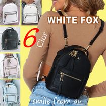 WHITE FOX Street Style Plain Backpacks