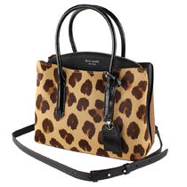 kate spade new york Leopard Patterns 2WAY Leather Handbags