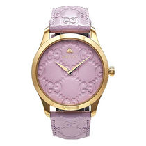 GUCCI Gucci Signature Leather Casual Style Leather Round Party Style Quartz Watches