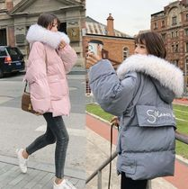 Short Casual Style Plain Fur Vests Office Style Parkas
