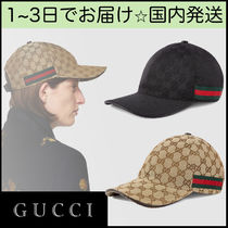GUCCI GG Supreme Unisex Blended Fabrics Street Style Caps
