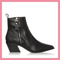 Lipsy Casual Style Plain Leather Chunky Heels