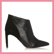 Lipsy Casual Style Plain Leather Pin Heels Ankle & Booties Boots