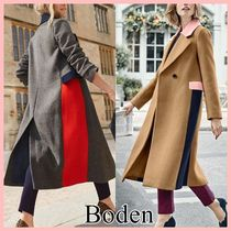 Boden Casual Style Wool Bi-color Plain Long Office Style