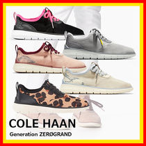 Cole Haan Leopard Patterns Round Toe Casual Style Python