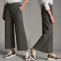 Massimo Dutti Casual Style Plain Long Office Style Culottes & Gaucho Pants