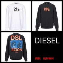 DIESEL Crew Neck Pullovers Street Style Long Sleeves Cotton