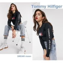 Tommy Hilfiger Crew Neck Short Street Style U-Neck Long Sleeves
