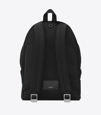 Unisex Canvas Plain Leather Logo Backpacks