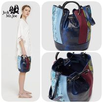 Jo & Mr Joe Casual Style Python Elegant Style Shoulder Bags