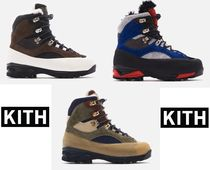 KITH NYC Suede Street Style Leather Boots