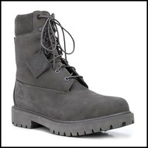Timberland Plain Leather Mid Heel Boots