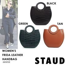 STAUD Casual Style Plain Other Animal Patterns Leather