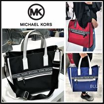 Michael Kors Unisex Nylon A4 2WAY Plain Crossbody Totes
