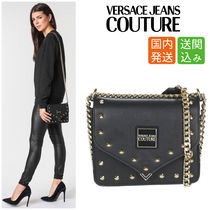 VERSACE Studded Chain Shoulder Bags