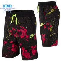 Nike Printed Pants Flower Patterns Unisex Street Style Cotton
