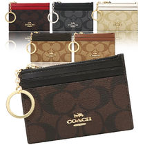 Coach SIGNATURE Leather PVC Clothing Card Holders