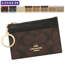Coach SIGNATURE Leather PVC Clothing Logo Card Holders