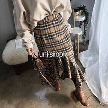 Pencil Skirts Flared Skirts Tartan Other Check Patterns