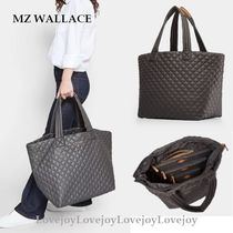 MZ WALLACE Casual Style A4 Plain Leather Elegant Style Totes