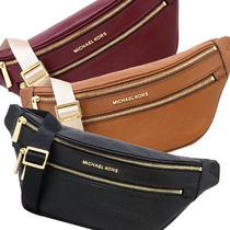 Michael Kors Plain Leather Crossbody Shoulder Bags