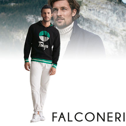 Cashmere Long Sleeves Logos on the Sleeves Hoodies