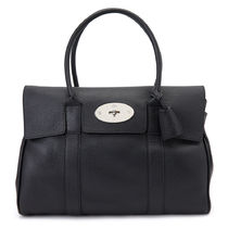 Mulberry Bayswater Leather Logo Totes