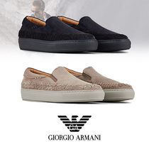 GIORGIO ARMANI Loafers Suede Plain Leather Loafers & Slip-ons