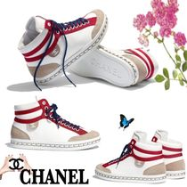 CHANEL Casual Style Street Style Bi-color Chain Leather