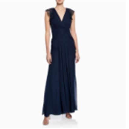 Silk Plain Long Dresses
