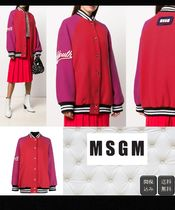 MSGM Casual Style Wool Bi-color Medium Varsity Jackets