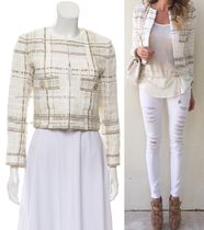 CHANEL TIMELESS CLASSICS CHANEL White Brown Lesage Tweed Jacket F38