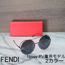 FENDI Unisex Round Oversized Sunglasses
