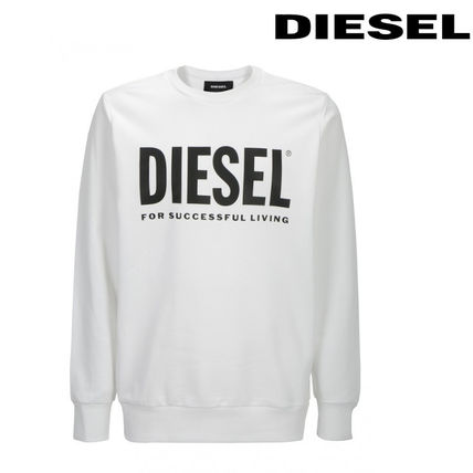 Crew Neck Long Sleeves Cotton Sweatshirts