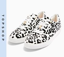 TOPSHOP Leopard Patterns Casual Style Low-Top Sneakers